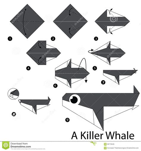 How To Make A Whale Origami - step by step how to make origami a killer
