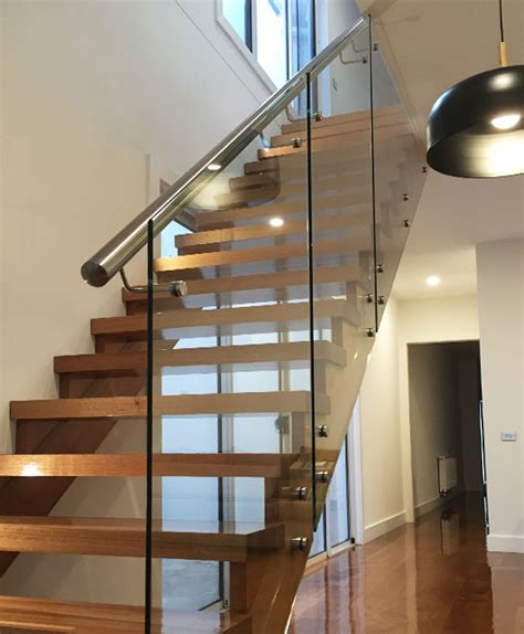 Stair Banisters Glass Balustrade Stairs Melbourne Frameless Glass