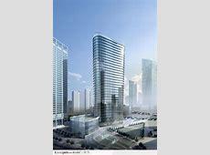 现代城市商业摩天楼建筑设计效果图 - 素材公社 tooopen.com M 3d Logo