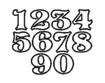 cool tattoo number fonts 7 white old english number fonts images old english