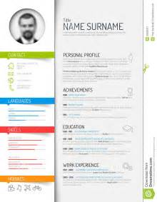 reference resume minimalistic logo animation tutorial cv resume template stock vector image 50593221