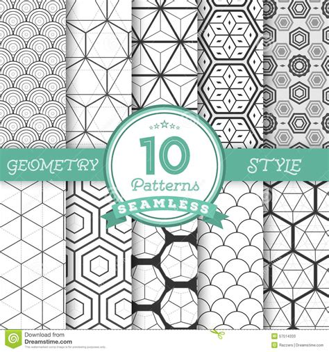 what pattern can you find in a limerick set of 10 vector seamless geometric lines pattern