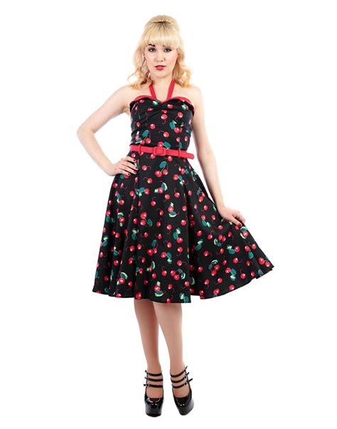 cherry swing dress collectif ginger retro 1950s vintage cherry print swing dress