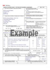 Custom Invoice Template by Canada Customs Invoice Canada Customs Invoice Template
