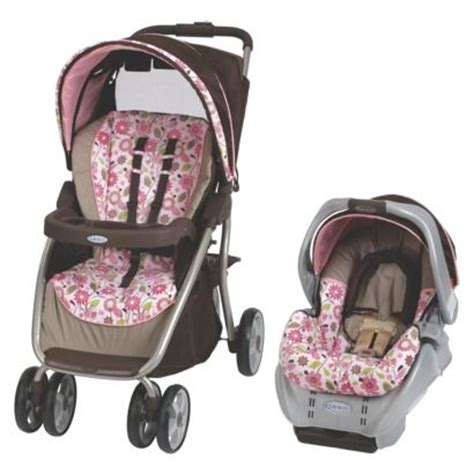 graco flower swing graco dynamo quot carolina quot gray seat brown stroller pink