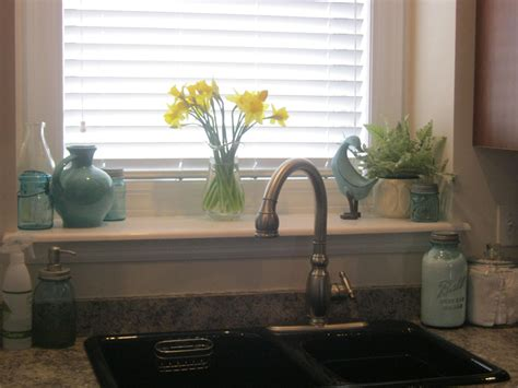 kitchen window sill decorating ideas clean sweep a little spring decorating clean mama