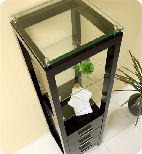 linen cabinet for bathroom glass shelf drawer bath espresso bathroom linen cabinet 3 tempered glass shelves