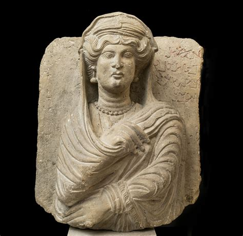 ancient portrait bust  palmyra joins  collection   getty villa