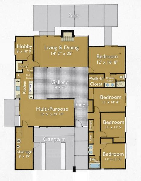joseph eichler home plans eichler plan floorplans pinterest