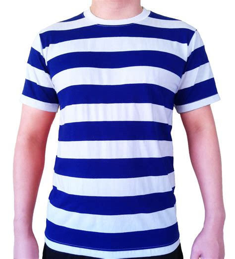 T Shirt Blur White Blue by Mens Striped T Shirt Sleeve Blue And White Striped