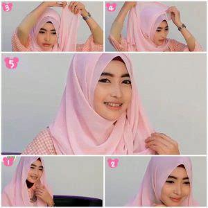 tutorial hijab simple wajah lonjong tutorial hijab kebaya yang simple praktis gebeet com