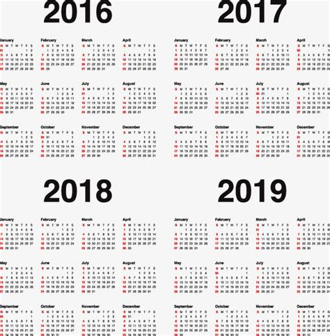 Calendario De 2017 E 2018 Calend 225 2017 2018 2019 Png E Vector Para