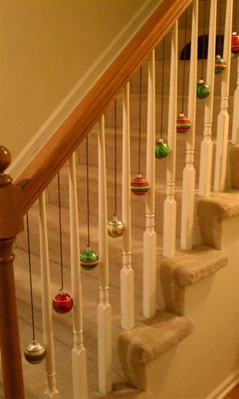 decoration for a banister 1000 ideas about christmas stairs decorations on