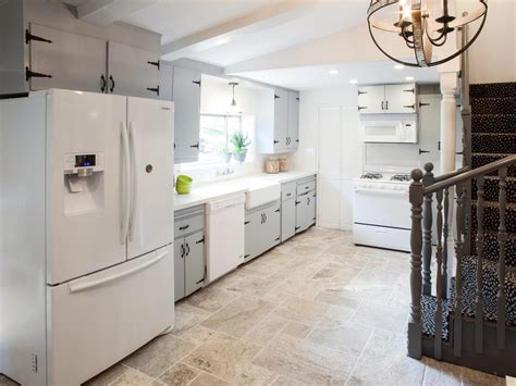 grey tile floor with white cabinets photo page hgtv