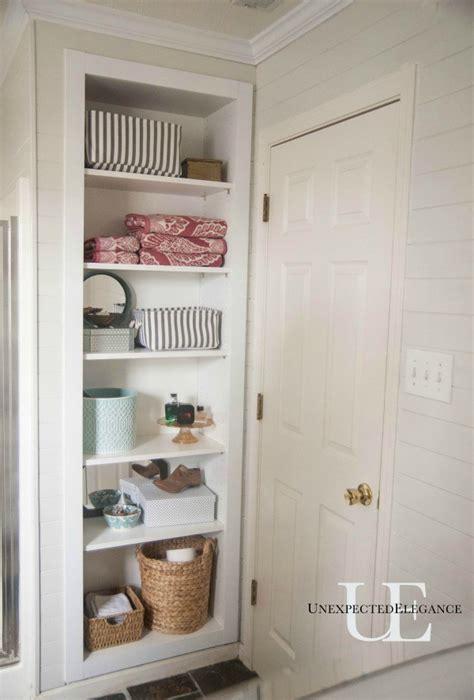 built in bathroom storage 25 bathroom space saver ideas