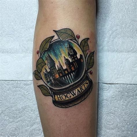 stocking tattoo designs hogwarts snowglobe by chris ink ideas