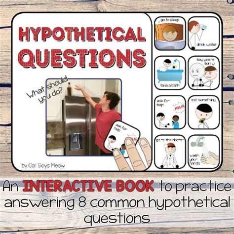 hypothetical questions interactive book speech therapy