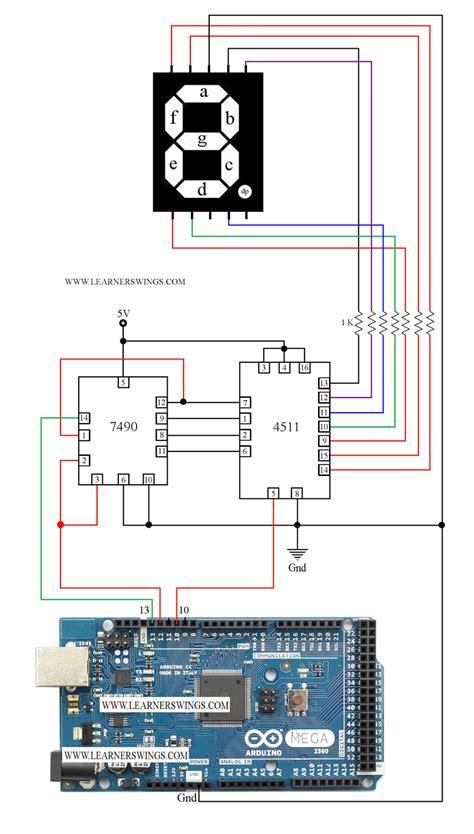 7490 ic pin diagram circuit to a common cathode seven segment display