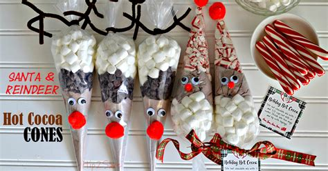 free printable reindeer hot chocolate santa reindeer hot cocoa cones easy holiday craft