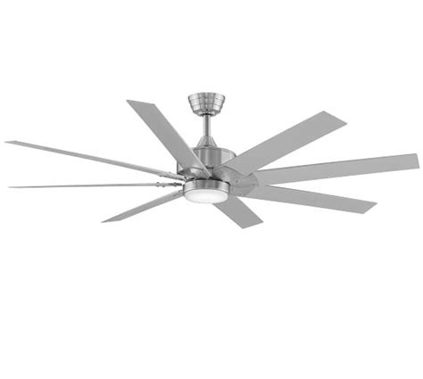 pottery barn ceiling fan levon indoor outdoor ceiling fan brushed nickel pottery