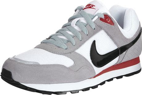 sepatu nike md runner grey white nike nike md runner in gray for white grey lyst