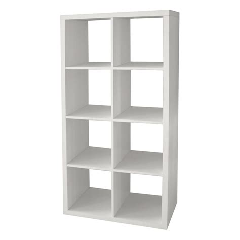 Homebase Shelf Unit by Clever Cube Storage System White 2x4 At Homebase Co Uk