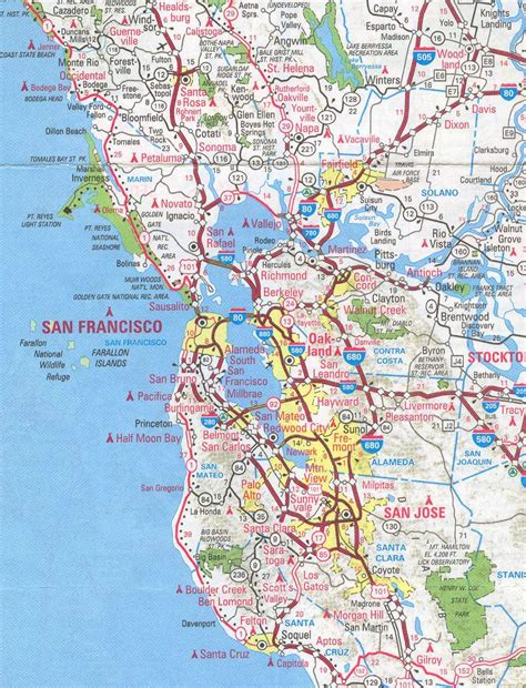 map of ta area sanfrancisco bay area and california maps 4 me 2