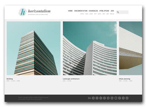 horizontal layout instagram horizontalism tumblr theme your best themes