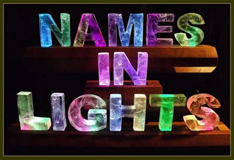 names that light your name in color changing lights
