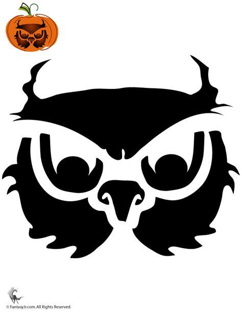 owl pumpkin carving templates owl pumpkin stencil woo jr activities