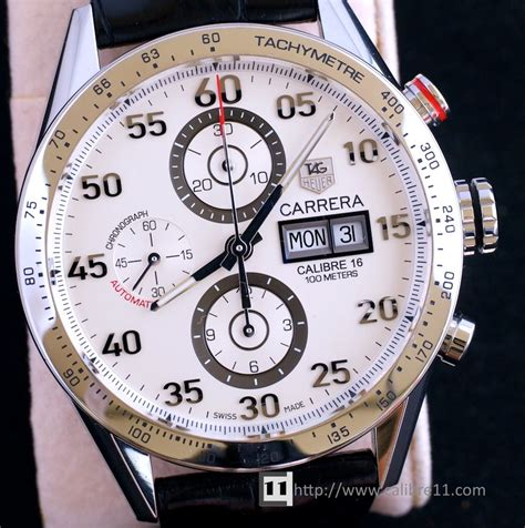 Tag Heuer F1 Calibre 16 Chrono Brown Silver White on review calibre 1887 43mm ceramic the home of tag heuer collectors