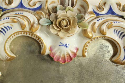cornici ceramica specchio con cornice ceramiche antiquariato