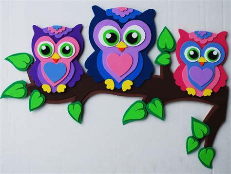 foam sheet craft projects owls in foam craft sheets my foamfriends creations
