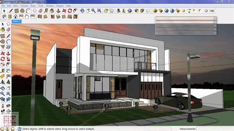 vray sketchup night lighting tutorial google sketchup tutorial 16 vray exterior night scene