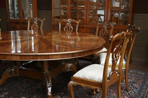 Large Round Dining Room Table | large oversized round dining table large round mahogany