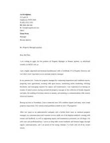 cover letter for property manager basic property manager cover letter sles and templates