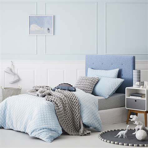 Adairs Kids Lucy Velvet Quilt Cover Set Blue Adairs Adairs Bedroom Furniture