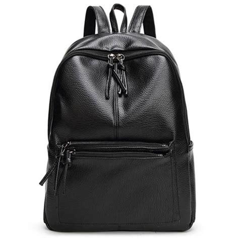 Ransel Wanita 1 tas ransel wanita pu leather black jakartanotebook