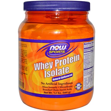 Now Foods, Sports, Whey Protein Isolate, Powder, Natural