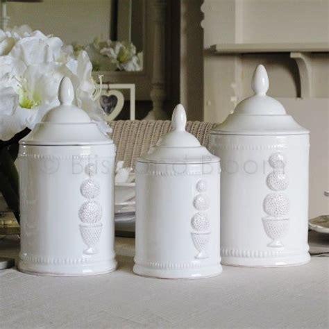 set 3 small stoneware vintage style distressed kitchen set of 3 white storage jars bliss and bloom ltd
