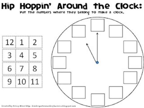 clock worksheets cut and paste introducing the analog clock cut and paste preschool