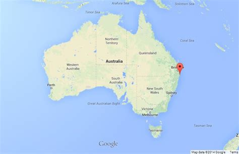 australia map location cape byron on map of australia world easy guides