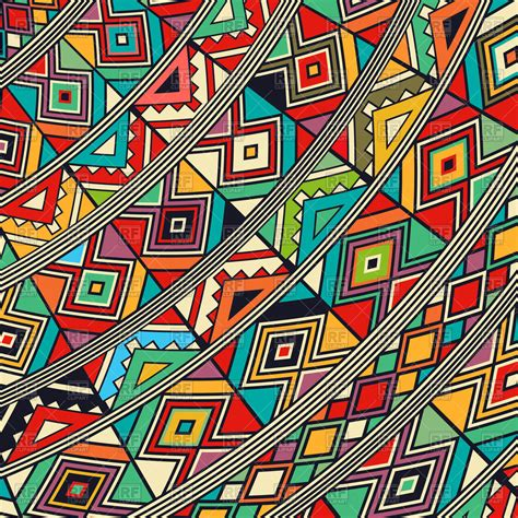tribal pattern free vector decorative african abstract tribal pattern royalty free