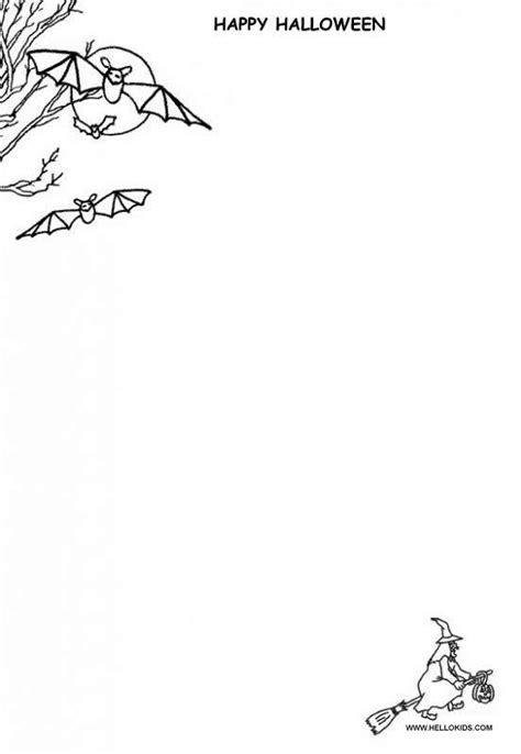printable bat stationary halloween invitations stationary writing paper with bat