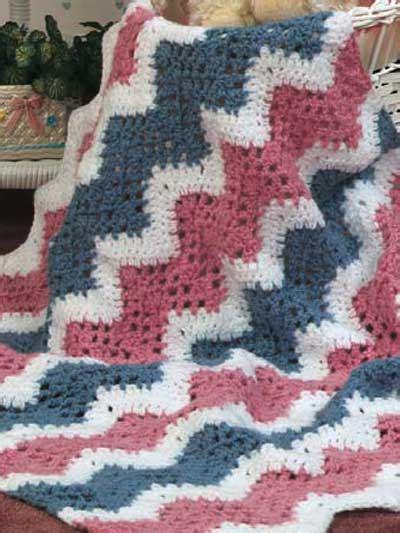 free pattern ripple afghan crochet ripple baby afghan pattern crochet club