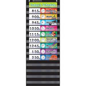 Pocket Schedule Template by Daily Schedule Pocket Chart Black Nts583865
