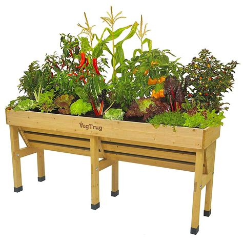 Outdoor Raised Planters vegtrug wallhugger raised garden planter eartheasy
