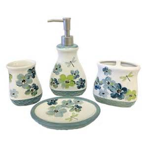 Walmart Bathroom Accessories Mainstays Dragonfly 4 Accessory Set Walmart