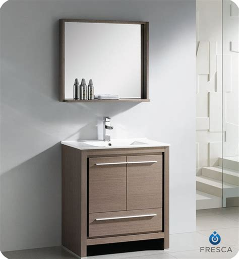 fresca allier 30 inch grey oak modern bathroom vanity with
