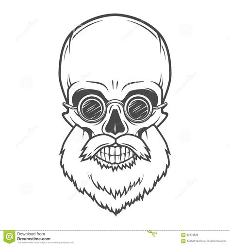 evil bearded jolly roger with glasses logo stock vector